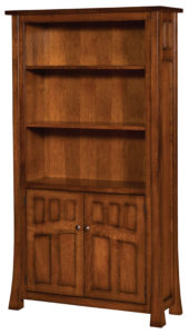 Bridgefort 40 Inch Bookcase with Cabinets