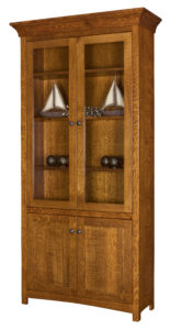 Bridgefort 40 Inch Bookcase with Glass Cabinets