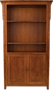 Boston 37 Inch Bookcase with Cabinets