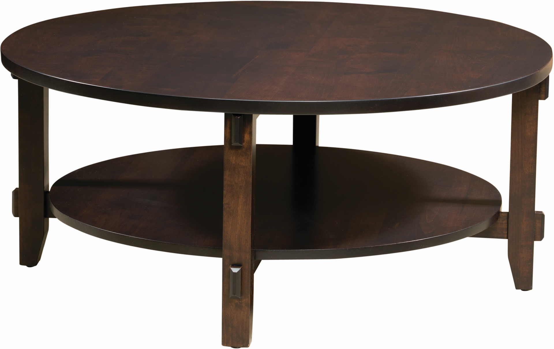 Round Bungalow Coffee Table Amish Bungalow Round Coffee