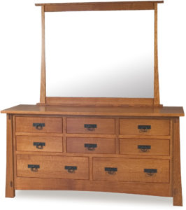 Modesto Eight Drawer Dresser with Large Mirror