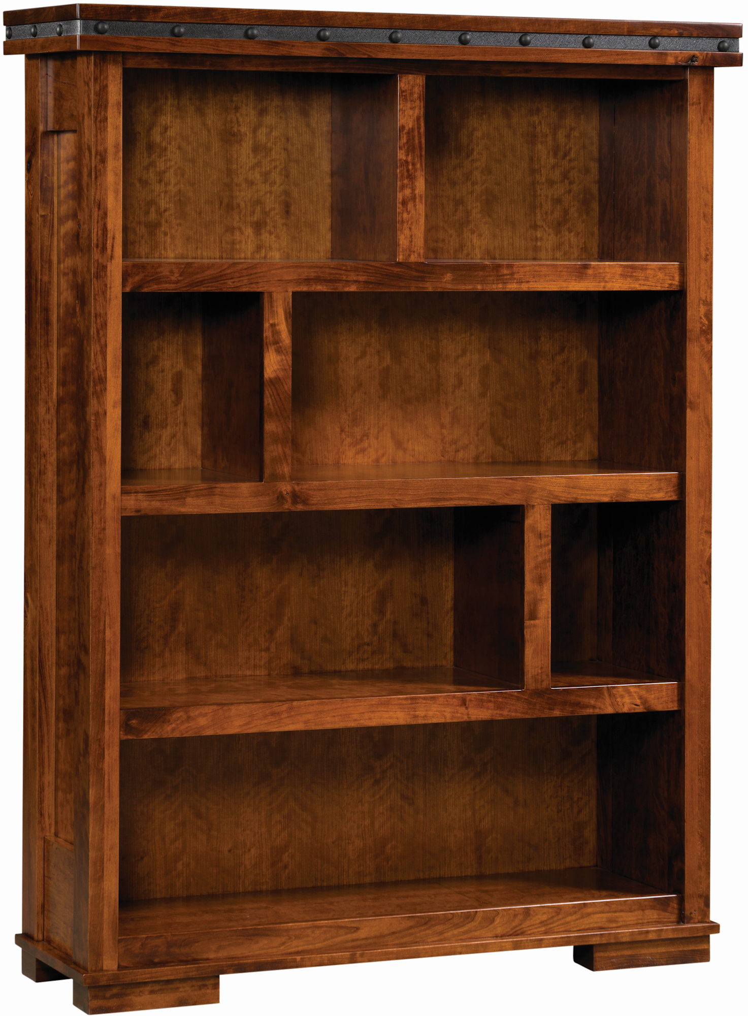 rustic log bookcase pine amish montana woodworks by bookcases watch bookshelf