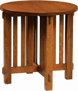 Round Rio Mission End Table