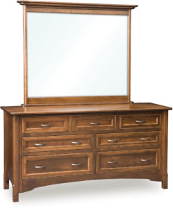 West Lake Seven Drawer Dresser with Mirror
