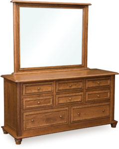 Woodberry Eight Drawer Dresser with Large Mirror