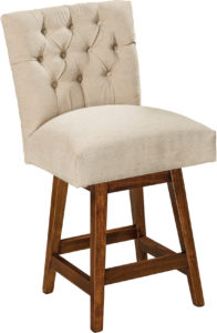 Alana Hardwood Swivel Bar Stool