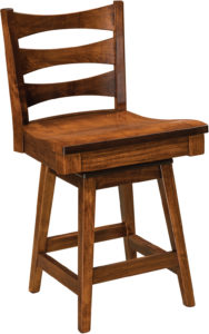 Armanda Hardwood Swivel Bar Stool
