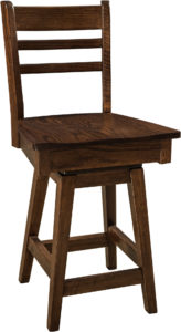 Brady Hardwood Swivel Bar Stool