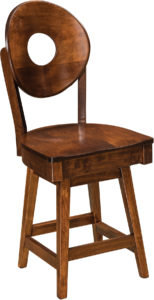 Bridgeport Hardwood Swivel Bar Stool