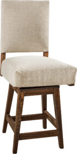 Canaan Hardwood Swivel Bar Stool