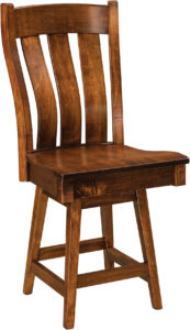 Chesterton Hardwood Swivel Bar Stool