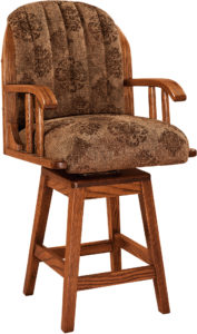 Delray Hardwood Swivel Bar Stool
