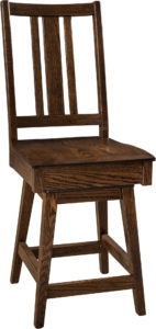 Eco Hardwood Swivel Bar Stool