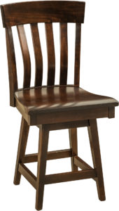 Galena Hardwood Swivel Bar Stool