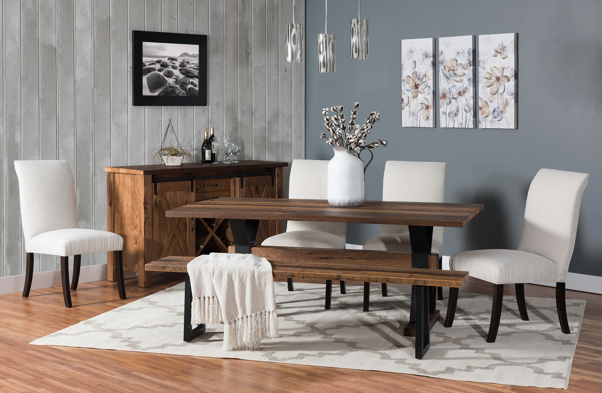 trestle dining room tables   Barnloft Trestle Dining Table   Amish Trestle Table ...
