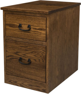 Noble Mission Two Drawer Mobile Pedestal