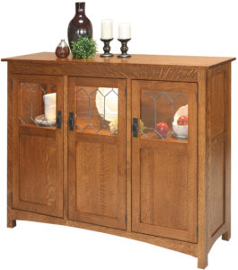 Old Century Three Door Display Buffet