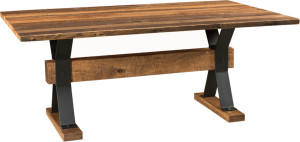 Barnloft Trestle Dining Table from Weaver Furniture Sales.