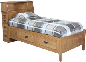 Headboard Storage Bed