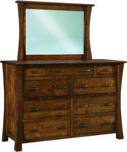 Vandalia 9 Drawer Mule Dresser