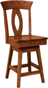 Brookfield Hardwood Swivel Bar Stool
