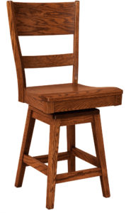 Genesis Hardwood Swivel Bar Stool