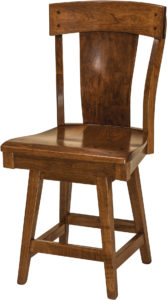 Lacombe Hardwood Swivel Bar Stool