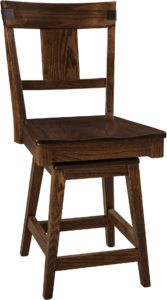 Lahoma Hardwood Swivel Bar Stool