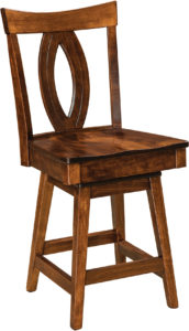 Miami Hardwood Swivel Bar Stool