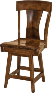 Ramsey Hardwood Swivel Bar Stool