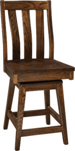 Salem Hardwood Swivel Bar Stool