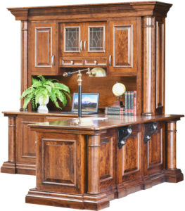 Paris Corner Desk and Hutch