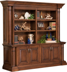 Paris Double Door Base and Bookshelf Hutch