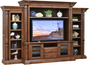 With its impressive design and impeccable cabinetwork, the solid hardwood Paris Entertainment Center is the epitome of sophistication and functionality.