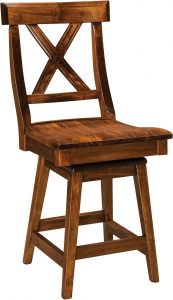 Vornado Hardwood Swivel Bar Stool