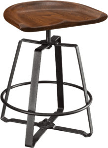 Iron Craft Adjustable Barstool