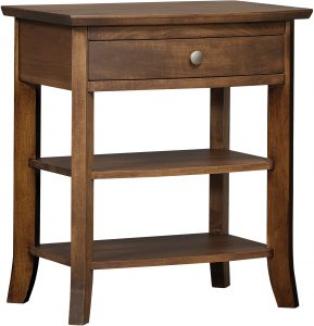 Laurel Hardwood One Drawer Nightstand
