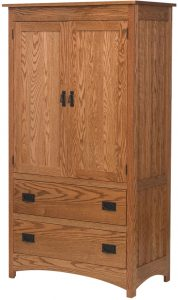 Schwartz Mission Two Drawer Armoire