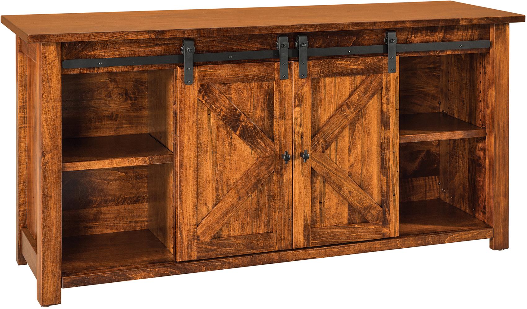 Teton Barn Door Sofa Table Custom Amish Teton Sofa Table