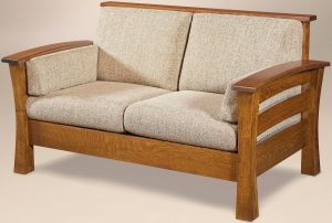 Barrington Solid Back Loveseat