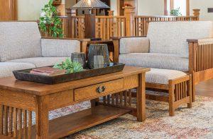 Highback Slat Family Room Set