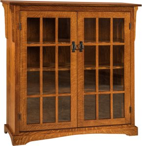 Walker Mission Medium Two Door Bookcase