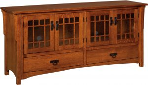 Midway Mission Four Door TV Cabinet