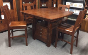 Reno Cabinet Table and Bar Chairs Ready for Pickup