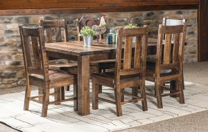 Santa Fe Leg Table Dining Room Set