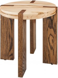 Olympic Two-Tone Round End Table