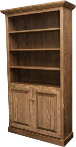Traditional Two Door Bookcase