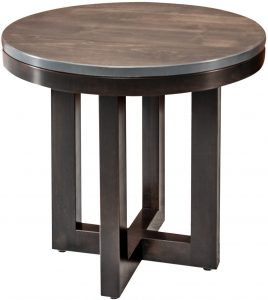 Xcell Two-Tone Round End Table
