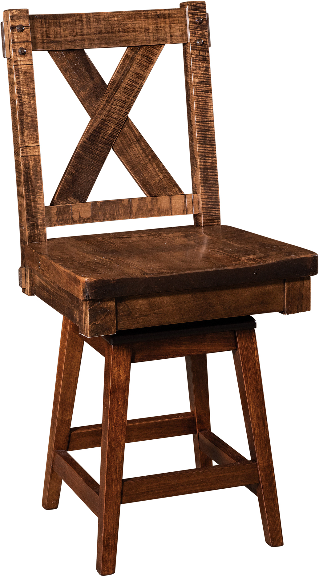 Denver Hardwood Swivel Bar Stool