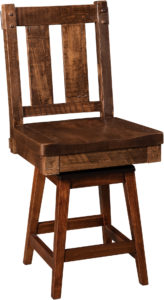 Houston Hardwood Swivel Bar Stool